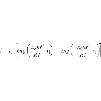 Butler-Volmer equation