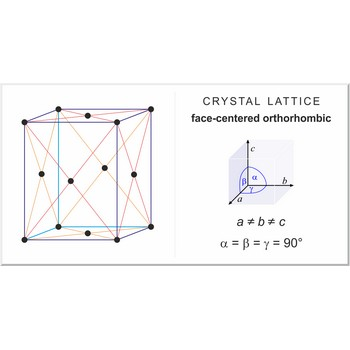 Face-centered orthorhombic lattice