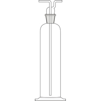 Gas washing bottle or Drechsel bottle