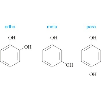 Ortho, meta and para positions